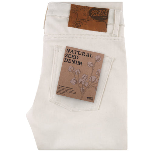 Naked & Famous - Super Guy - Natural Seed Denim