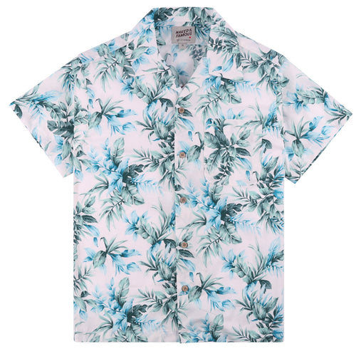 Naked & Famous - Aloha Shirt - Big Tropical - White