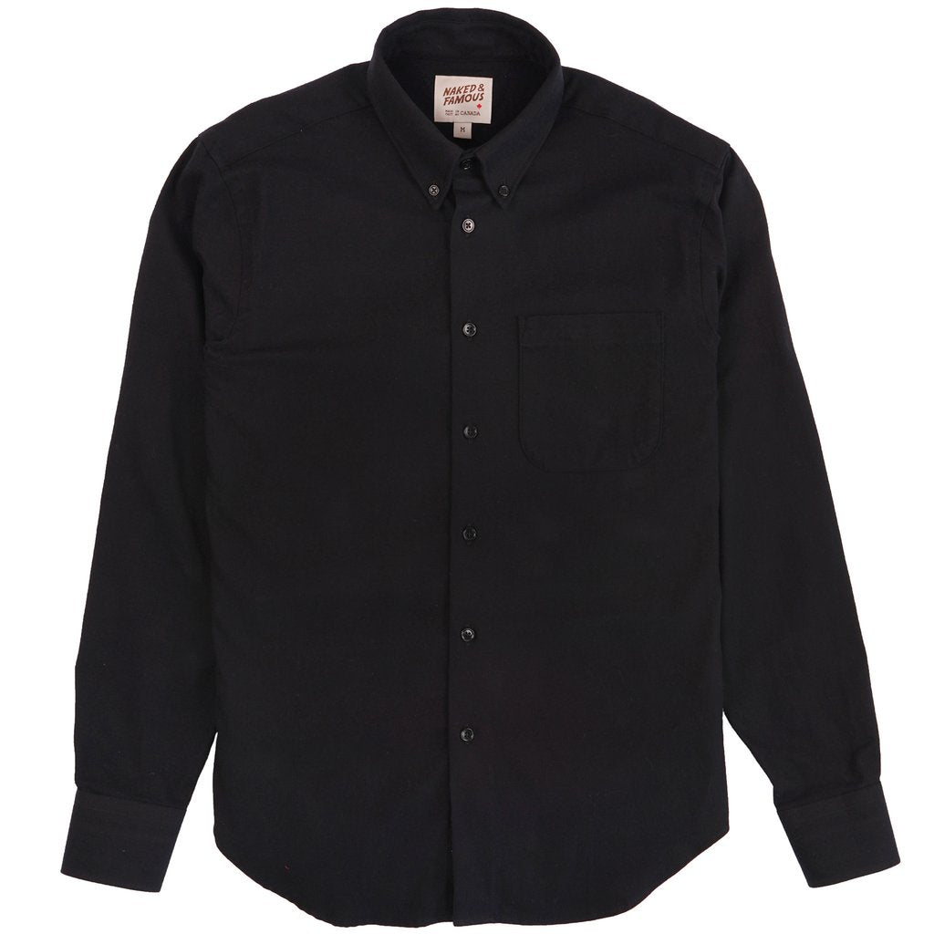 Naked & Famous - Easy Shirt - Solid Flannel Black