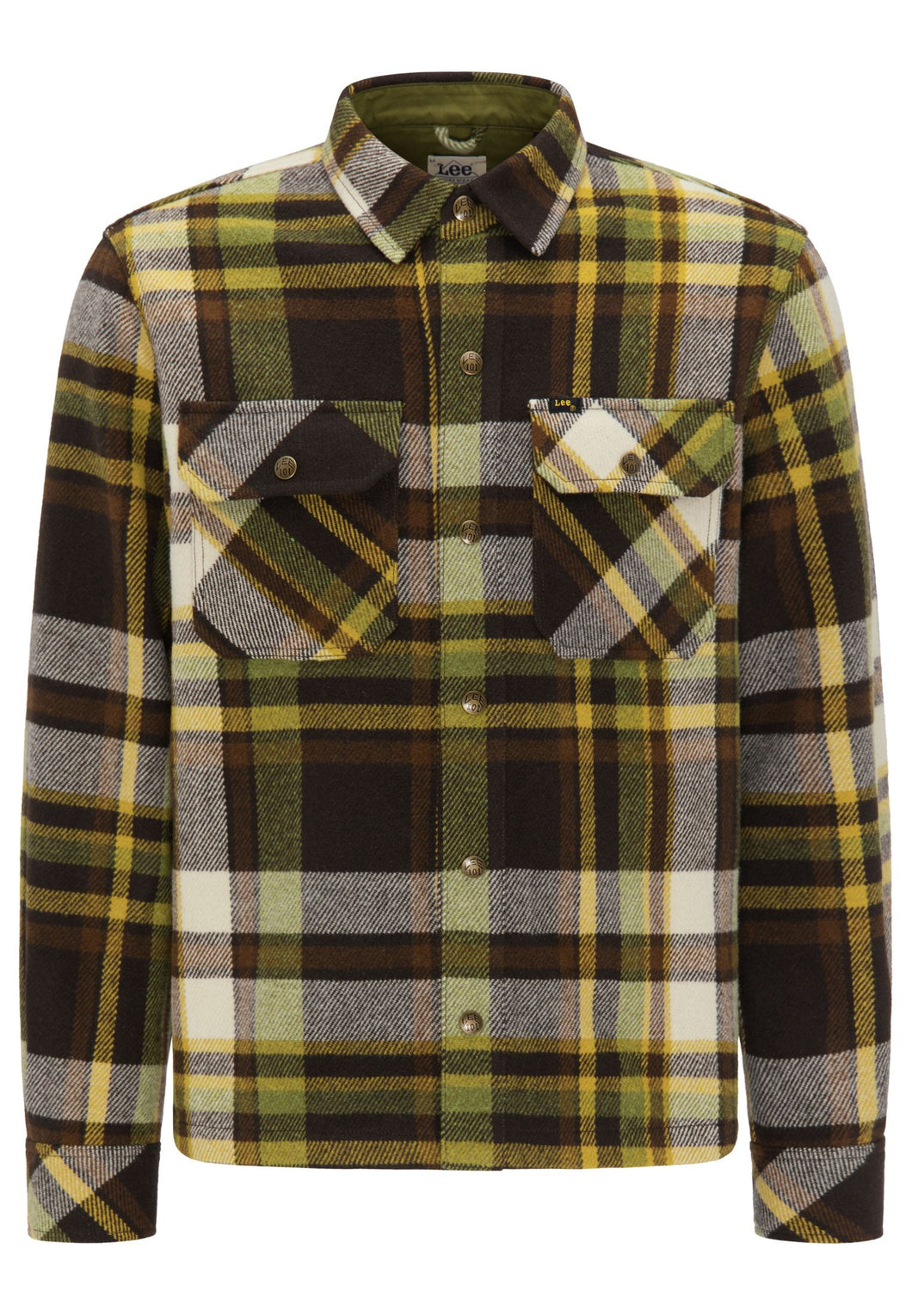 Lee 101 - Wool Overshirt - Green Delicioso Plaid