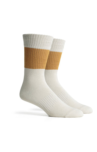 Richer Poorer - Upcycled Crew Sock - Rigby - Gold