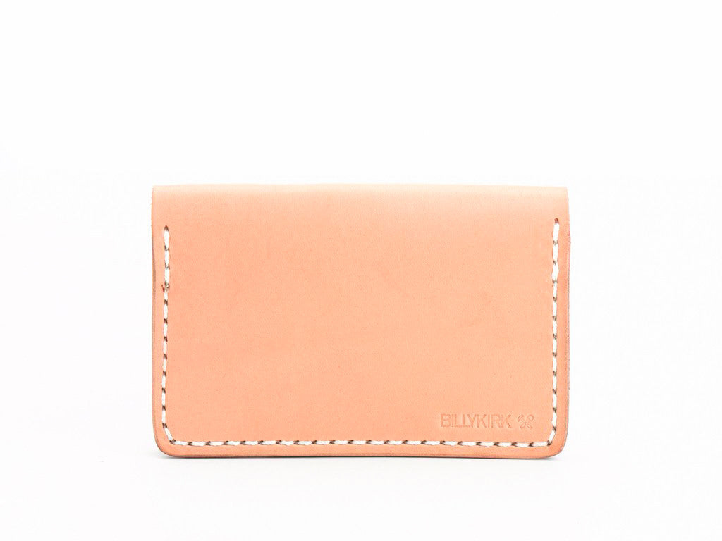 Billykirk - Leather Bi-Fold Card Case - Natural