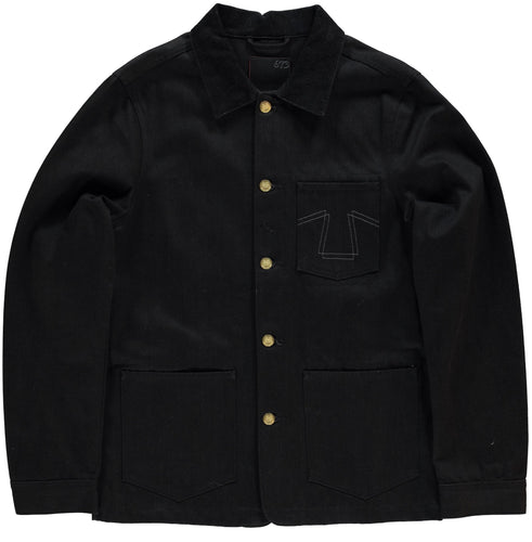 Eat Dust - 673 Chore Coat - 14oz Black Denim