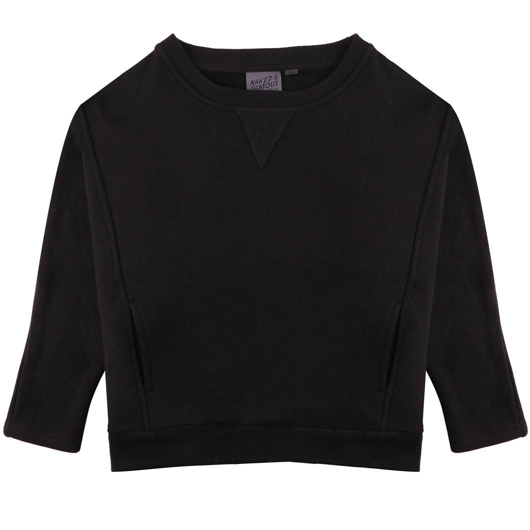 Naked & Famous Women's - Smart Crew - Black