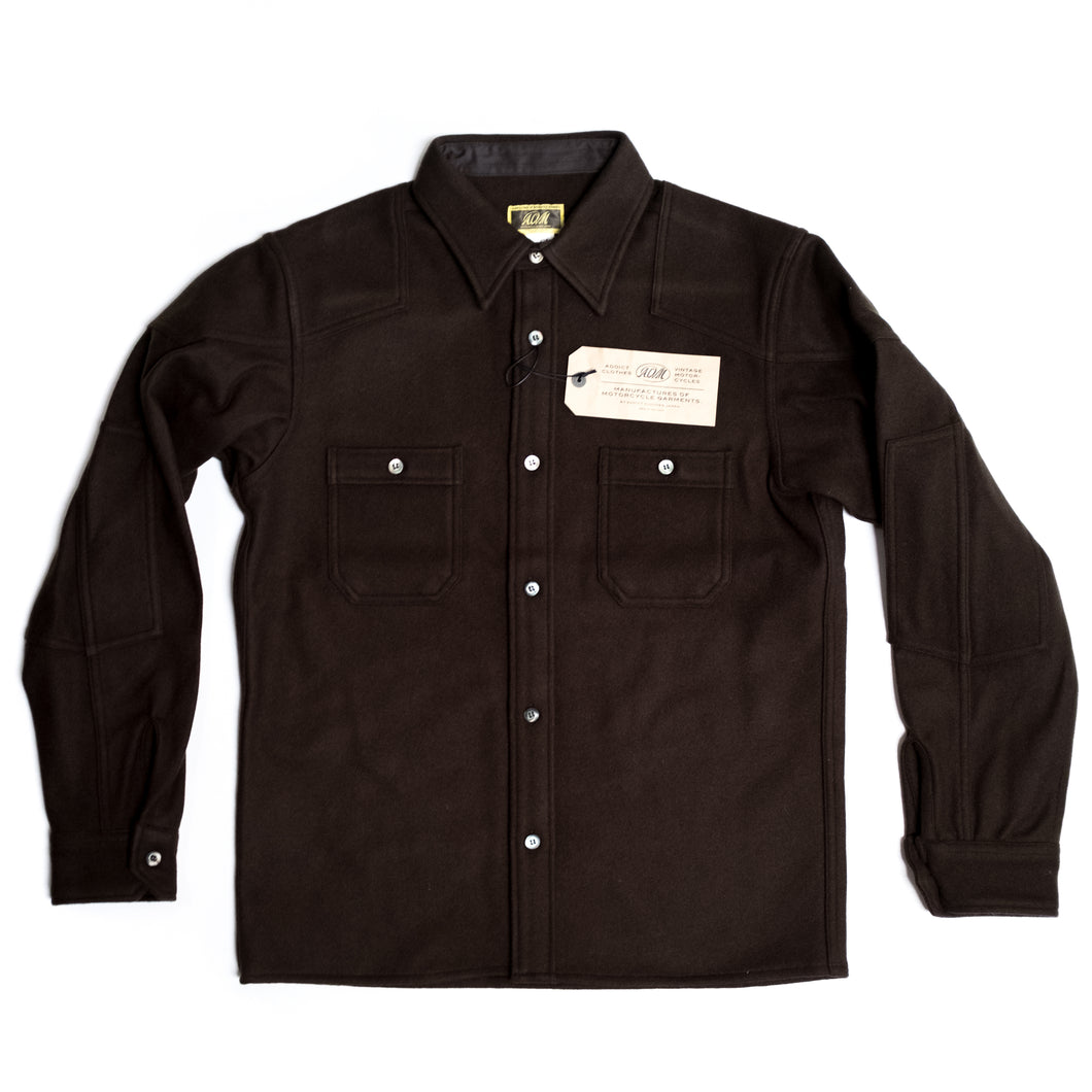ADDICT Clothes - Padded Wool Shirt - Olive