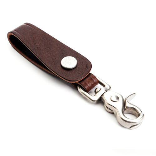 Billykirk - Leather Trucker Key Fob - Brown