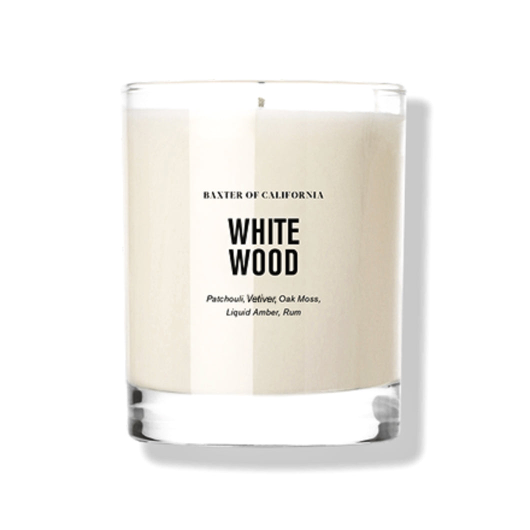 Baxter of California - White Wood Candle