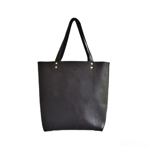 Haiti Design Co. - Black Leather Tote