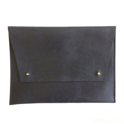 Haiti Design Co. - Black Leather Oversized Portfolio