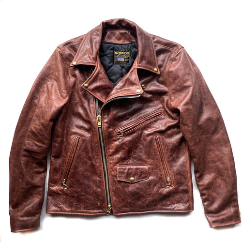 Vanson - C2RN Leather Jacket - Brandy (50% DEPOSIT PRE-ORDER)