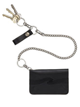 Nudie - Alferdsson Chain Wallet - Black Leather
