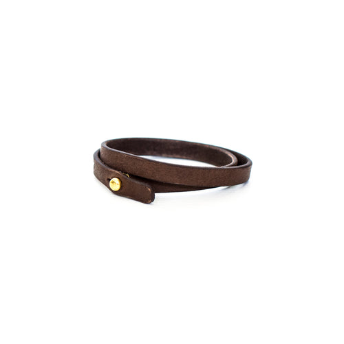 Haiti Design Co. - Double Wrap Leather Bracelet - Brown