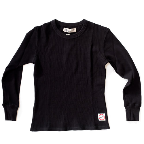 Eat Dust - Waffle Knit Thermal - Black