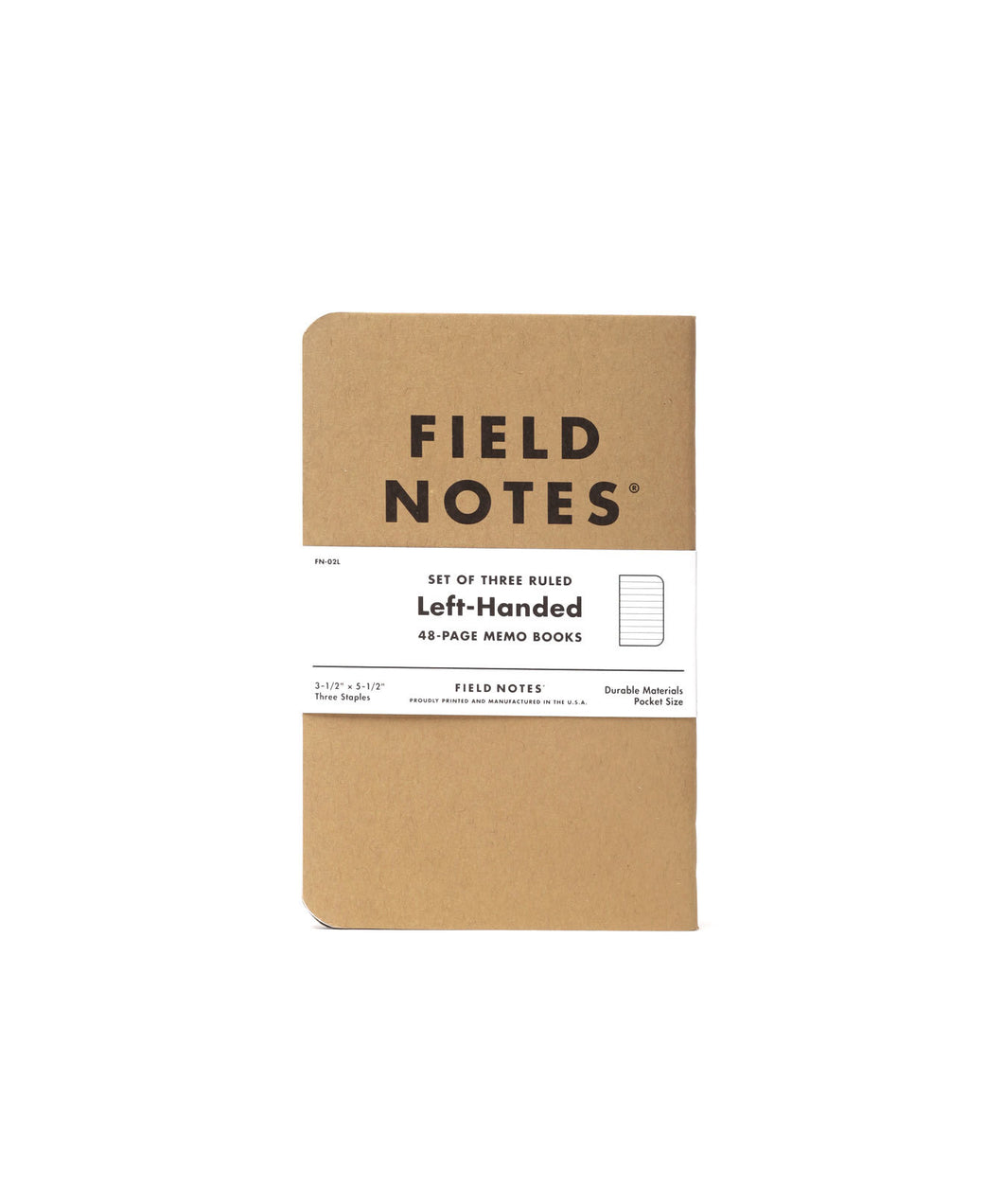 Field Notes - Left Handed (3pk)