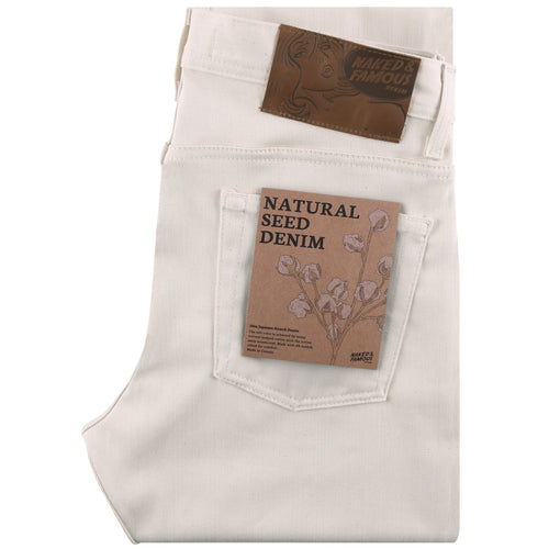 Naked & Famous - Weird Guy - Natural Seed Denim