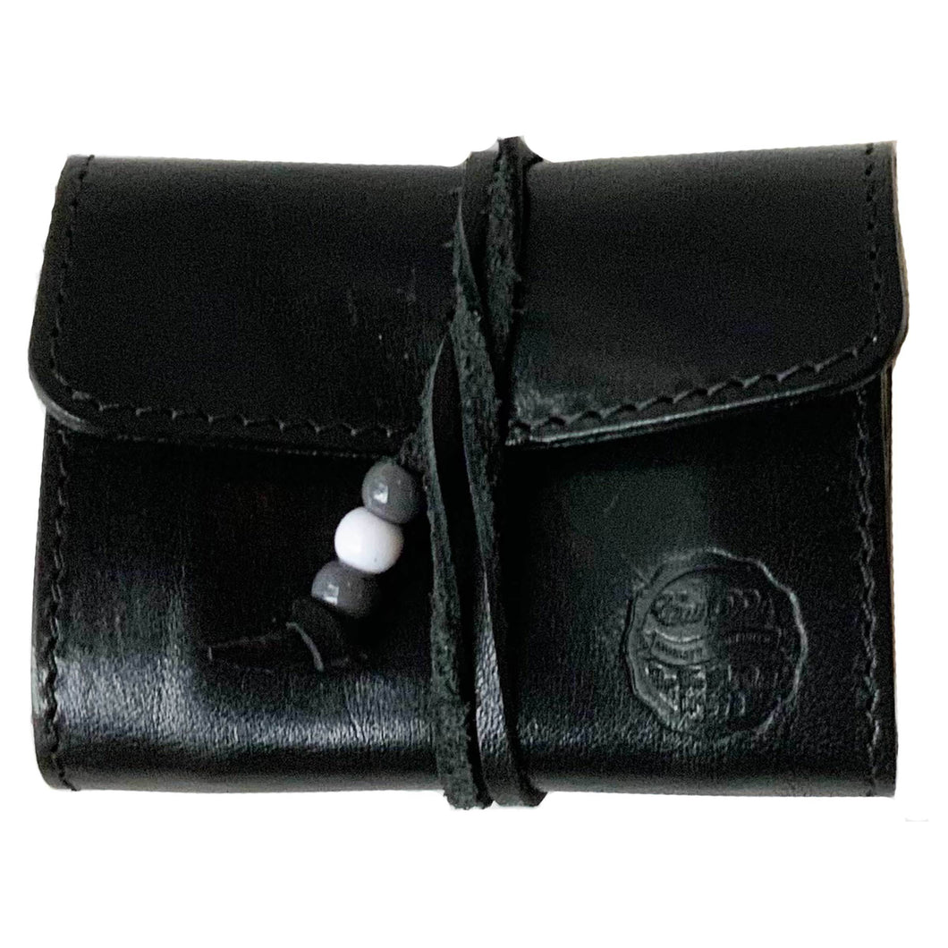 Eat Dust - Leather Stash Pouch - Black