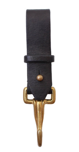 Haiti Design Co. - Black Leather Key Fob