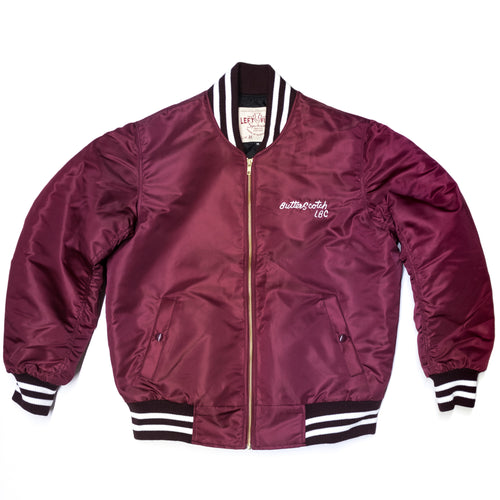 Left Field NYC x ButterScotch - LB Crew Jacket - Burgundy
