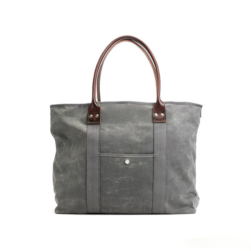 Billykirk - Large Waxed Tote - Ash