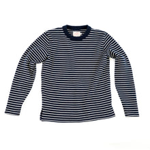 Dehen 1920 - Micro Stripe Sweater - Dark Navy