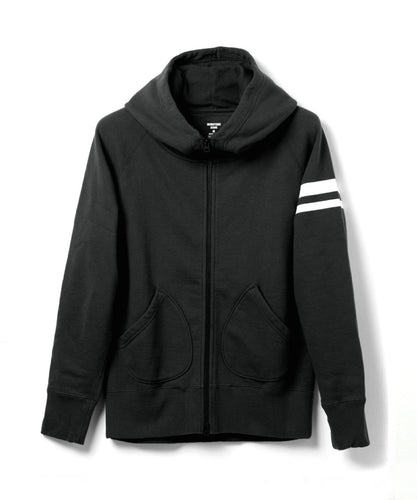 Momotaro - Heavyweight Hoodie - Black W/ GTB Stripe