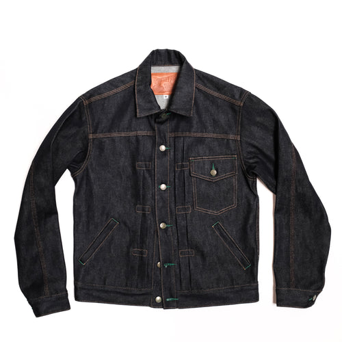 Left Field NYC - Indigo Muleskinner Denim Jacket-13 oz Cone White Oak Denim
