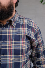 Naked & Famous - Easy Shirt - Cotton Silk Flannel - Navy