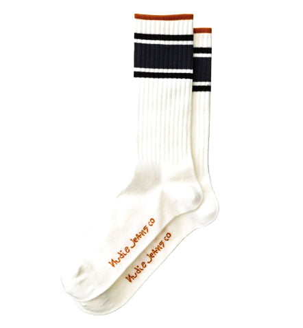 Nudie - Amundsson - Sport Socks - Offwhite Navy