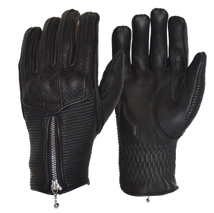 Goldtop England - Silk Lined Raptor Gloves - Black