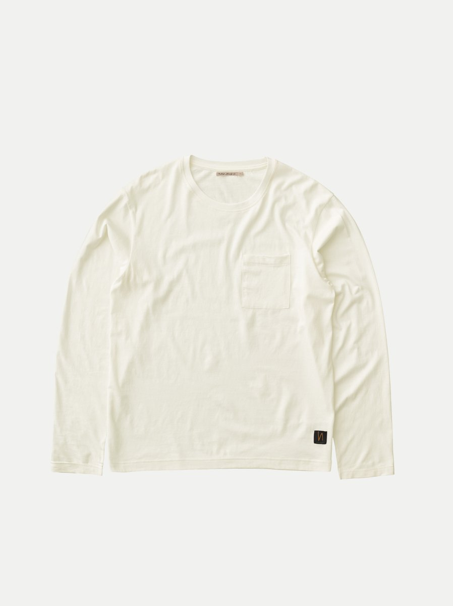 Nudie - Rudi LS Pocket Tee - Powder White