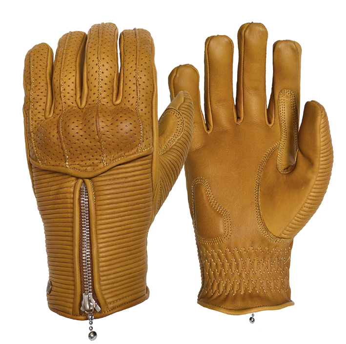 Goldtop England - Silk Lined Raptor Gloves - Sand