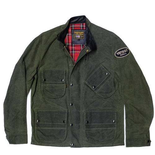Vanson - Stormer Jacket - Olive Waxed Canvas