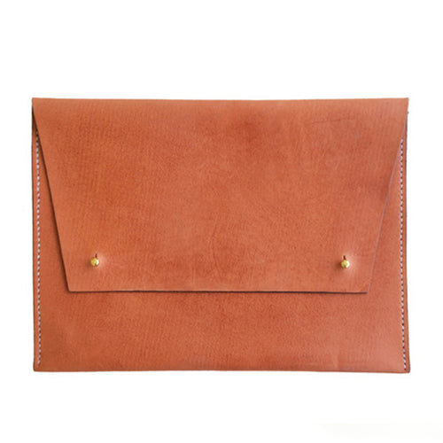 Haiti Design Co. - Tan Leather Oversized Portfolio