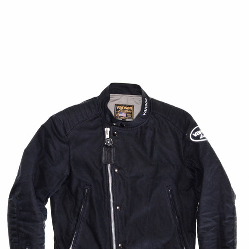 Vanson - Trophy Jacket - Black Waxed Canvas