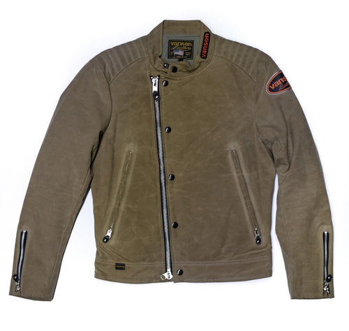Vanson - Trophy Jacket - Tan Waxed Canvas