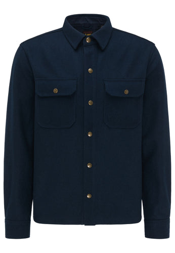 Lee 101 - Wool Overshirt - Total Eclipse Navy