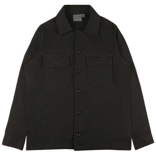 Naked & Famous - Work Shirt - Black Rinsed Oxford
