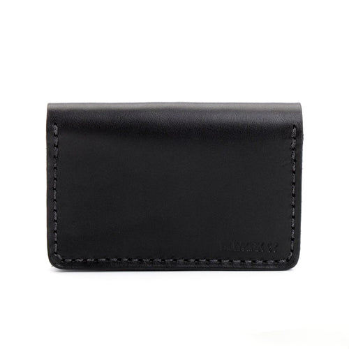 Billykirk - Leather Bi-Fold Card Case - Black