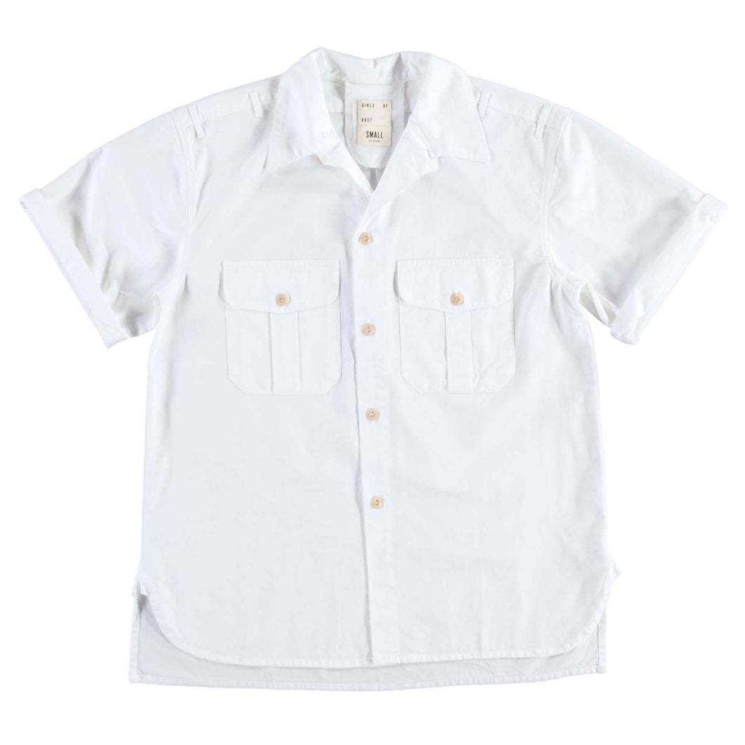 Girls of Dust - Cuban Shirt - White