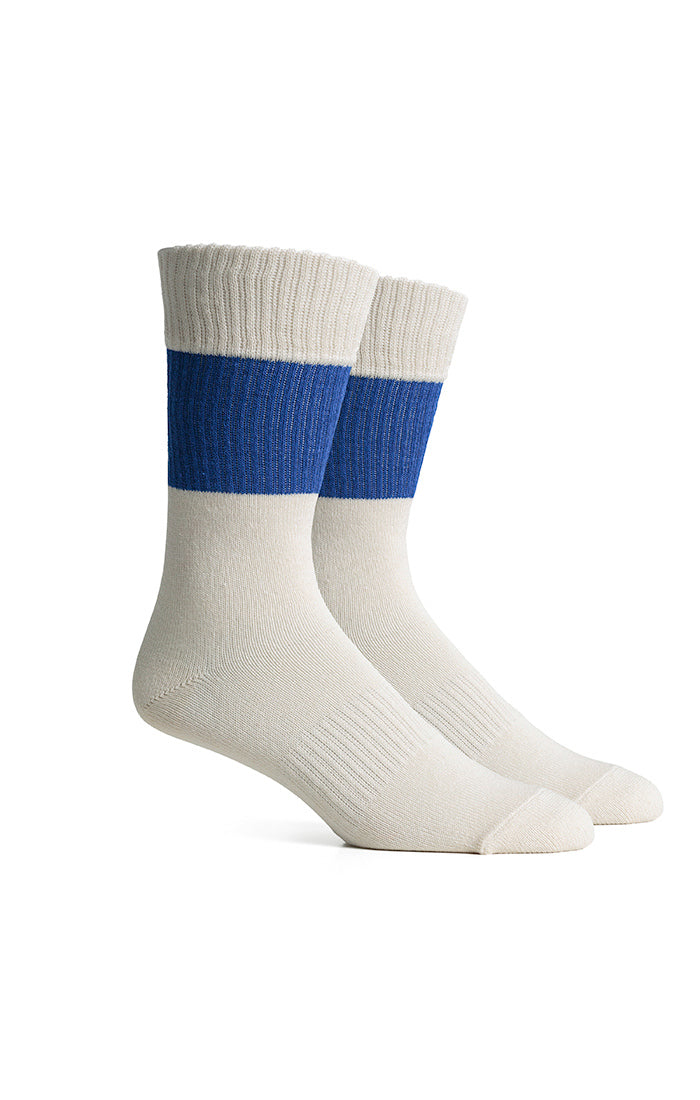 Richer Poorer - Upcycled Crew Sock - Rigby - Blue