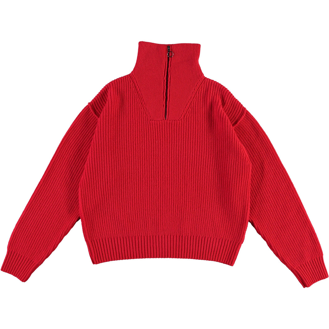 Girls of Dust - Fly Deck Sweater Merino Wool - Red
