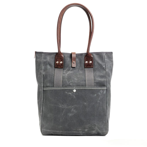 Billykirk - Waxed Canvas Commuter Tote - Ash
