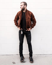 Golden Bear - Logan Suede Bomber - Whiskey