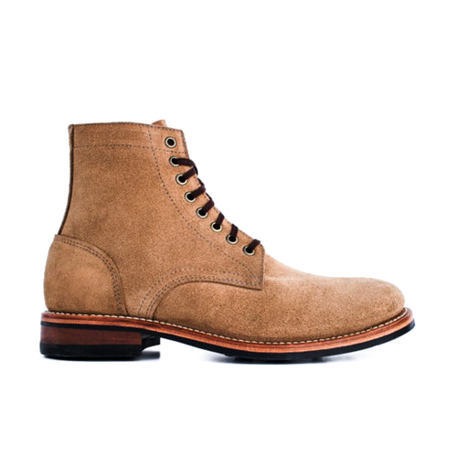 Oak Street Bootmakers - Dainite Trench Boot - Natural Rough-out