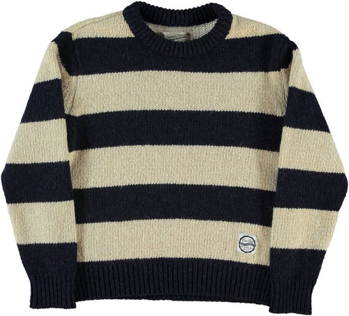 G.o.D. - Striped Crew Neck Sweater