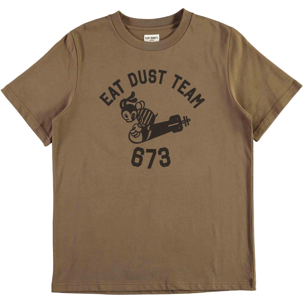 Eat Dust - Bee -Torpedo Dust Organic Cotton Tee - OD Green