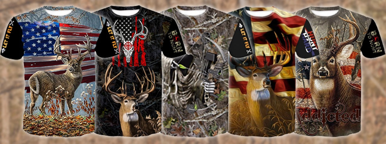 Lelex Shop has the best deer hunting shirt and hoodie. high quality whitetail deer bow hunter shirts