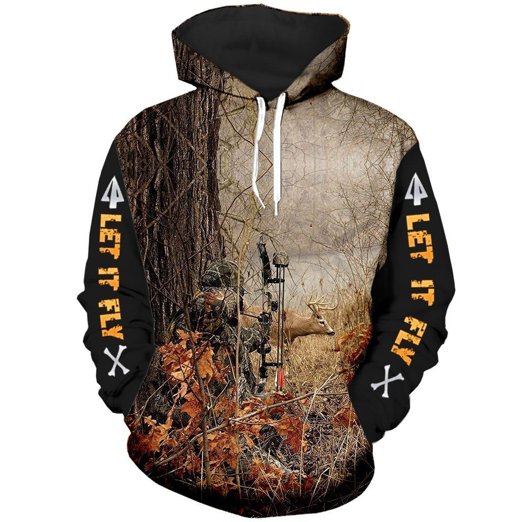 """ Let It Fly "" Bow Hunter unisex hoodie"