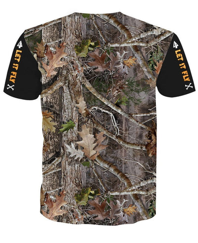 """ Let It Fly "" Bow Hunter camo T-shirt"