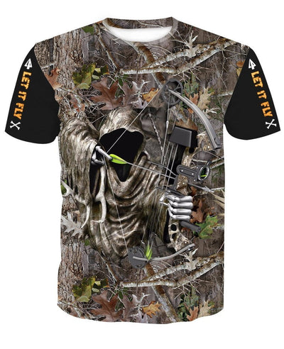 GRIM REAPER BOW HUNTER CAMO T-shirt